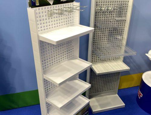 Flexibelt golvställ i miljövänlig plast