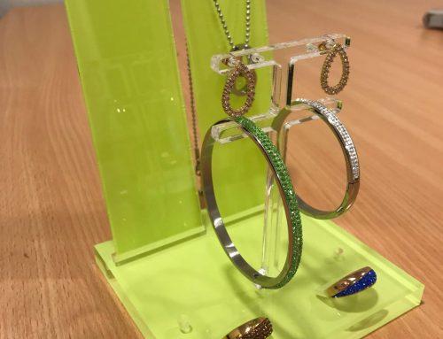 Display för armband och örhängen